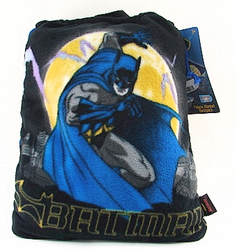 Joylot.com Batman Kid's 2 in 1 Fleece Blanket Backpack Blue Black