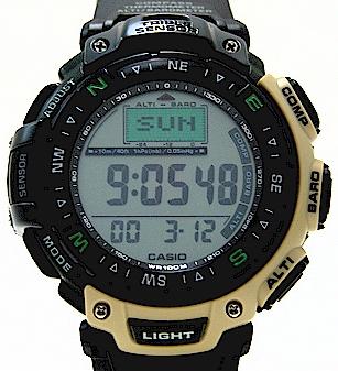 Casio pag40 5v watch men 39 s pathfinder triple sensor duplex lcd for Watch duplex free online