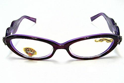 4d3d6cae92 ED HARDY EHO709 Eyeglasses Vintage Tattoo EHO-709 Lavender Lake Optical  Frames by Ed Hardy
