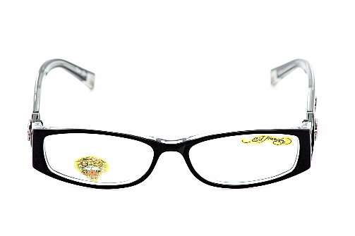 ed hardy eho718 eyeglasses eho 718 black crystal optical frames by ed hardy
