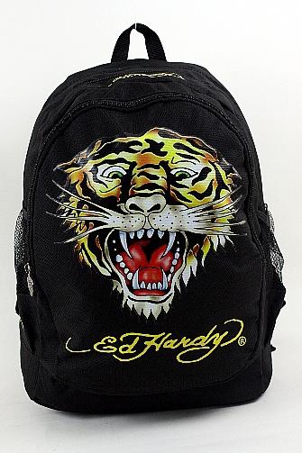 8ba7565471 Ed Hardy Bruce Tiger Backpack B1BRUTIG Black Book Bag by Ed Hardy