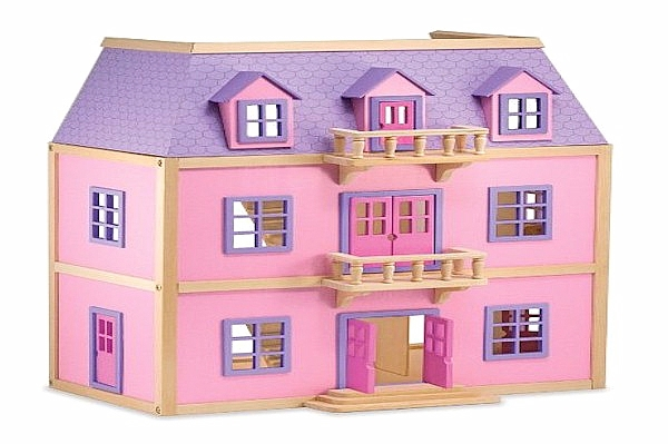 Melissa Doug Multi Level Dollhouse Kid Toy 4570