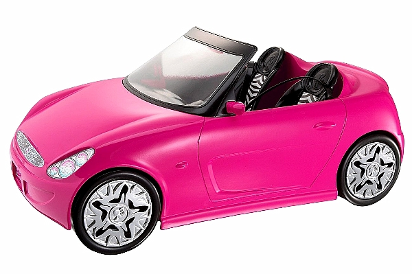 Toy Cars For Girls : Barbie doll glam auto convertible car kids girls toy by