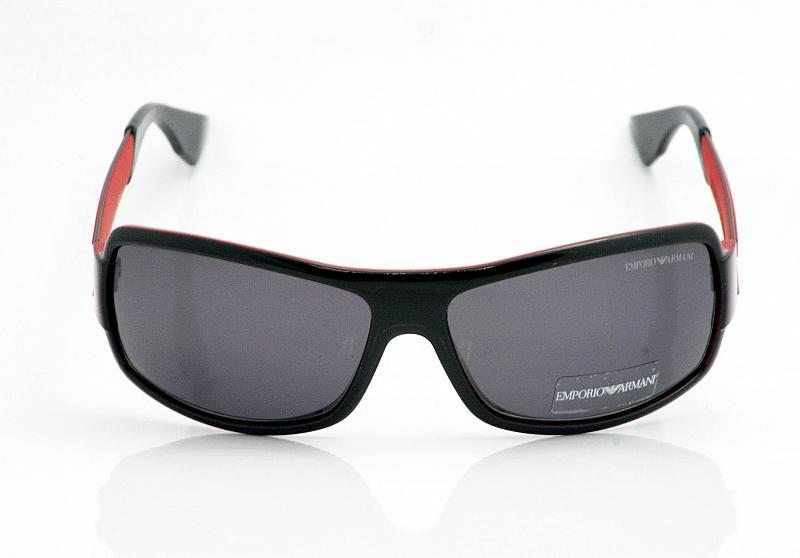 45a231dd96b0 9697s Black Ea Armani Red Shades Emporio Shiny Sunglasses BZtHx4