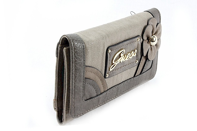e4a6867467f Guess Zambia Slg Slim Clutch Wallet Handbag Taupe Ladies Purse by Guess