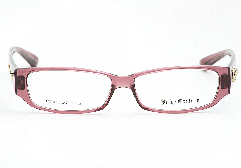 juicy couture eyeglasses drama queen dark rose optical frame by juicy couture