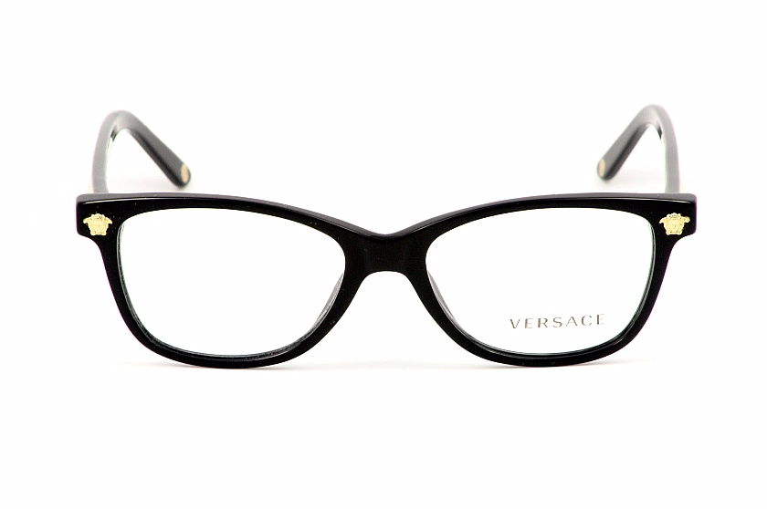 versace eyeglasses 3153 black optical frame by versace