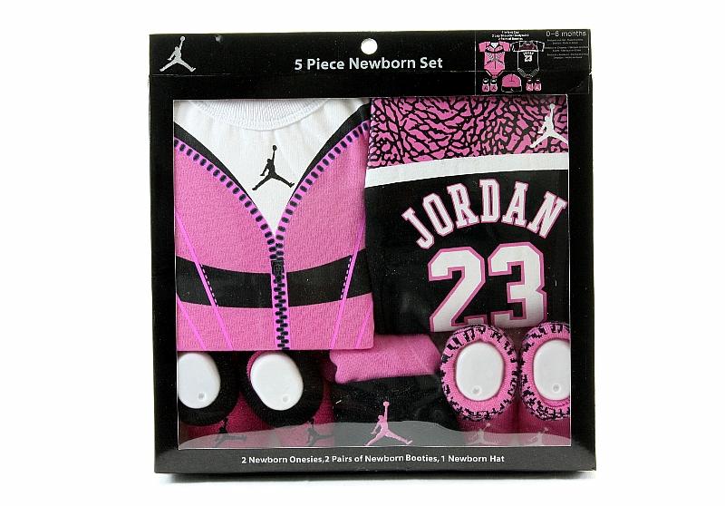 16e1bb04d20e Michael Jordan 5 Piece Newborn Set Size 0-6 Months Pink IGSP635 by Nike  Jordan