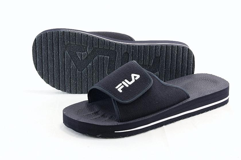 148700b7d473 Fila Men s Slip On Low Navy Blue Peacoat White Slipper Slide Sandals