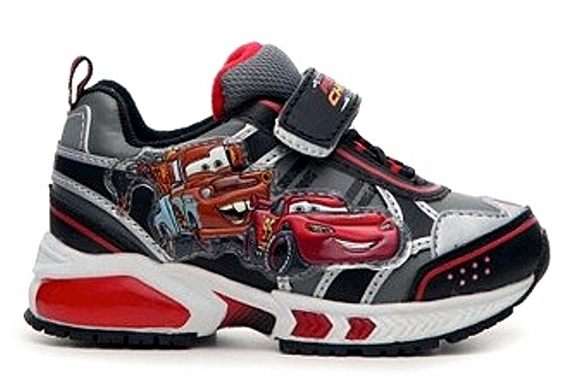 Disney D Fit Cars 2 Light Up Sneakers Kid S Black Red