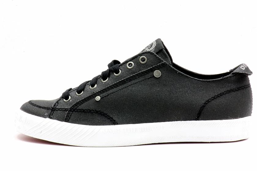 3cafcf048cb2 Diesel Men s Fashion Shoes D-78 Low Black Sneakers by Diesel