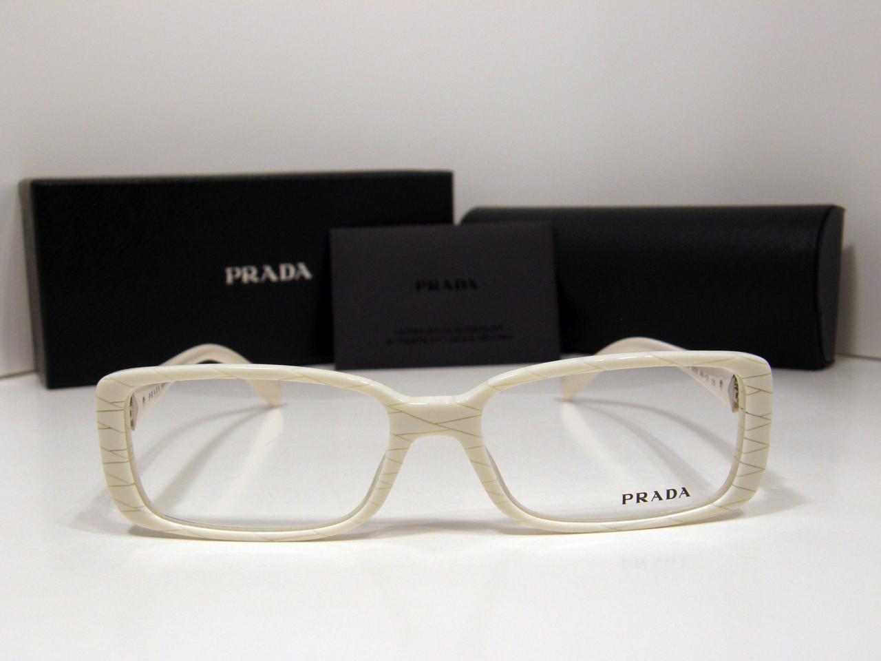 38064c3a0140 Prada PR-11NV Eyeglasses Ivory AB1-1O1 Optical Frame by Prada