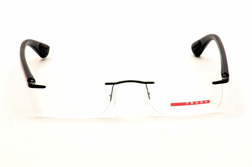 Prada Sport Eyeglasses VPS54C VPS 54C Rimless Optical Frame