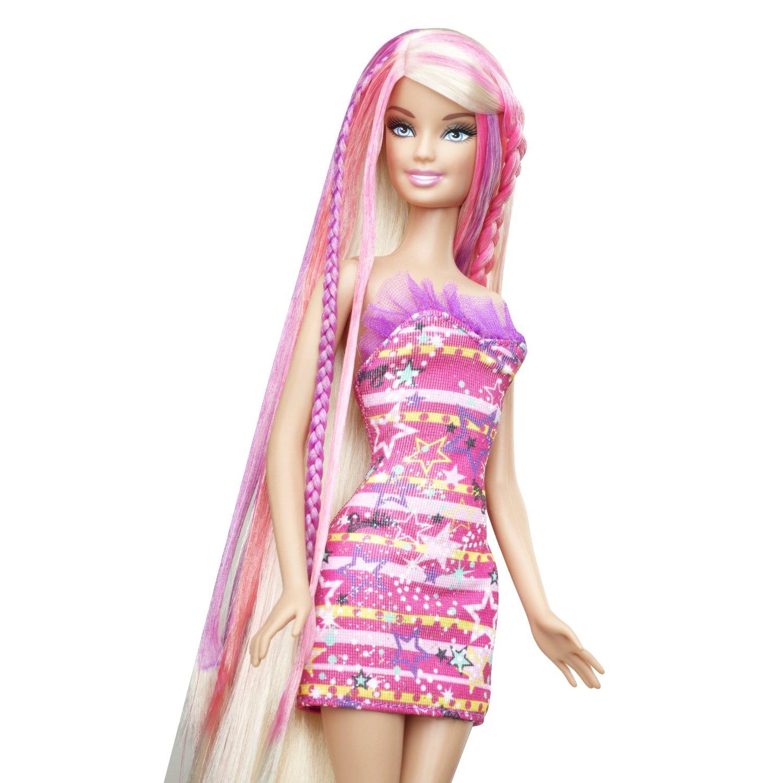 Barbie Hair Tastic Color Design Salon Doll Toy Set
