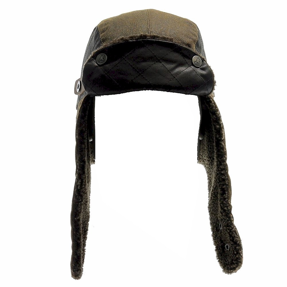 3c01556b6e0 Kangol Men s Aviator K1416FA Quilted Military Trapper Hat by Kangol