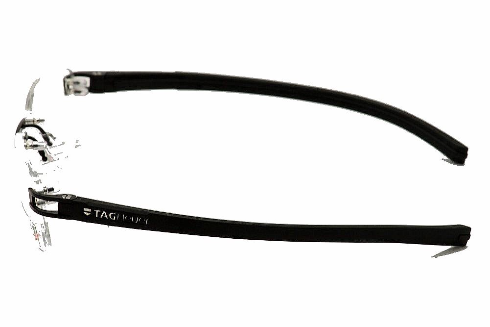 Eyeglass Frame Tag Heuer : Tag Heuer Eyeglasses TH/7645 001 Black TagHeuer Rimless ...