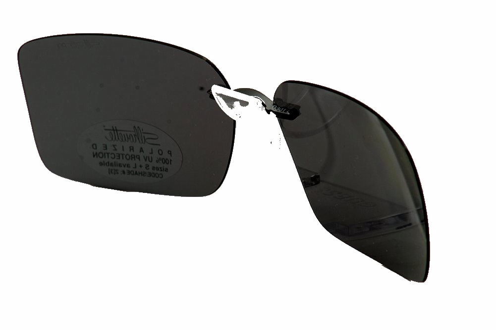 Silhouette Clip On Sunglasses  silhouette sunglasses 5090 a1 grey polarized clip on sunglasses
