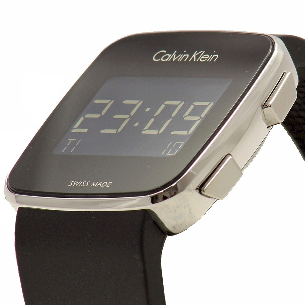 a4715c6263e5 Calvin Klein Men s CK K5C21TD Black Rubber Future Digital Fashion Watch by Calvin  Klein