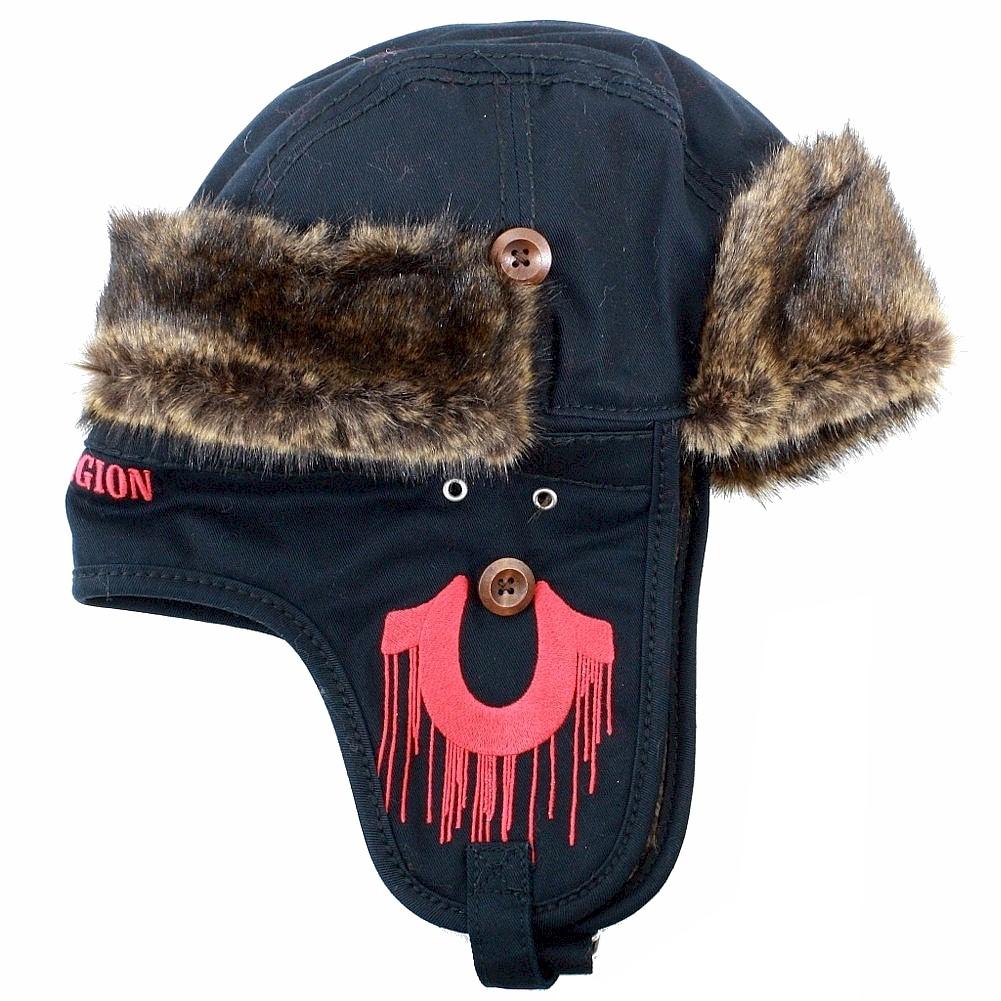 True Religion Men s Twill Winter Fur Lined Trepper Hat by True Religion 0f2d89599e0