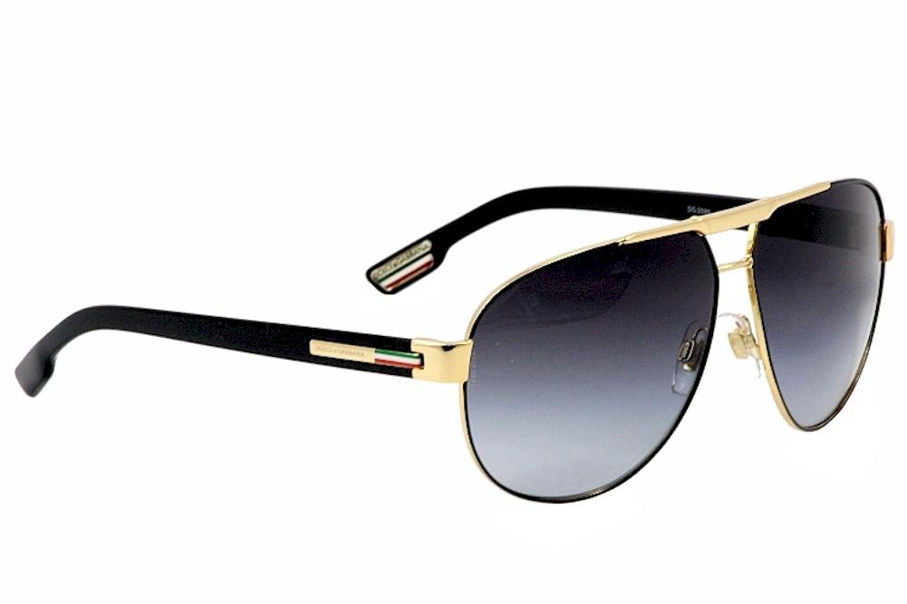 d581d081d025a Dolce   Gabbana D G DG2099 2099 1081 8G Gold Black Retro Pilot Sunglasses  61m by Dolce   Gabbana