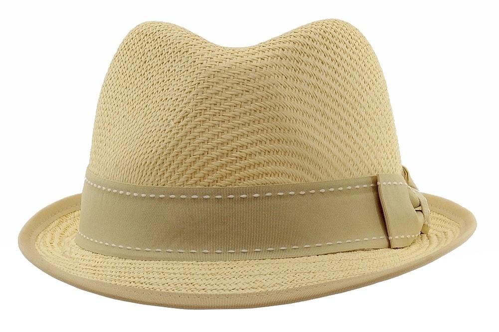 d8380db9160e5 Henschel Men s Gentleman Straw Fedora Hat by Henschel