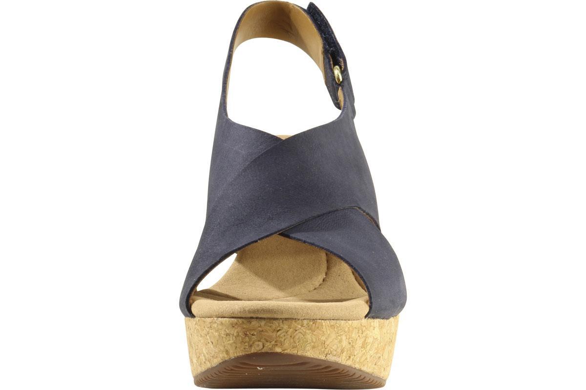 Clarks Women S Annadel Eirwyn Cork Wedge Sandals Shoes