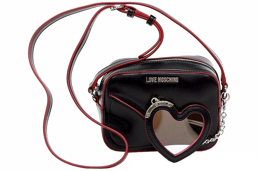 3341776a35836 Love Moschino Women s Heart Mirror Crossbody Handbag by Love Moschino
