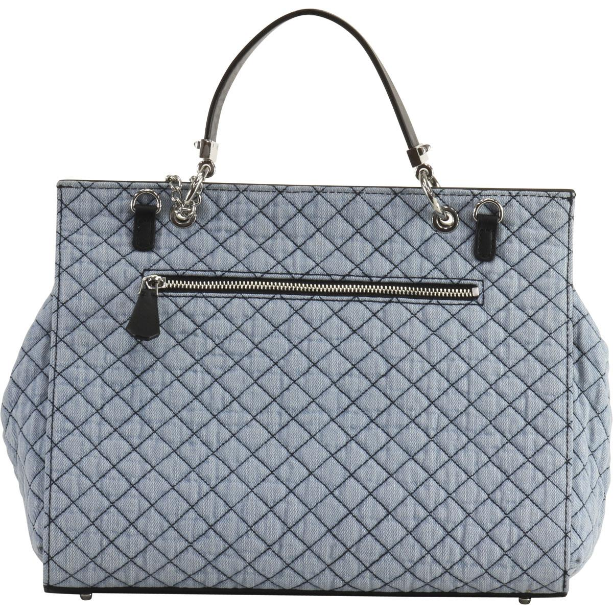 4a22a59496 Guess Women s Rochelle Quilted Top Handle Flap Handbag by Guess