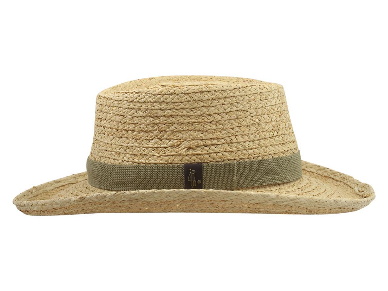 ae6faacb9 Scala Pro Men's Fine Braid Raffia Golf Gambler Hat