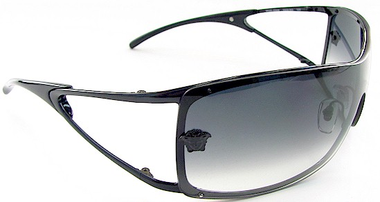 6c16fa2bbaab8 VERSACE 2048 Black 1009 8G SUNGLASSES by VERSACE