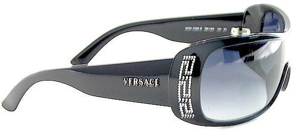c7f04c2da0b New Versace 4098B 4098-B GB1 8G Black Lens Black Logo Frame Sunglasses by  VERSACE