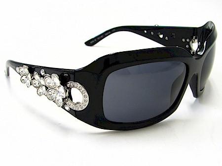 c95174f9a2e14 Bvlgari 856-B 856B Black 501 87 Swarovski Crystal Sunglasses by Bvlgari