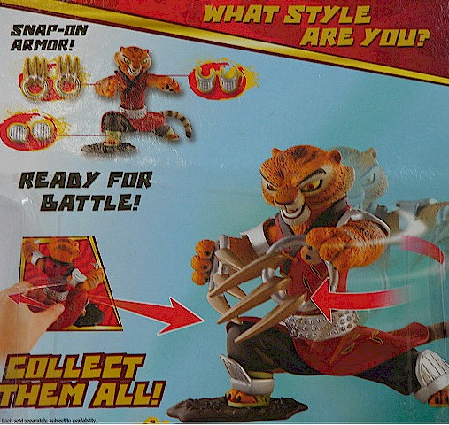 Kung Fu Panda Claw Attack Master Tigress Action Figure Toy