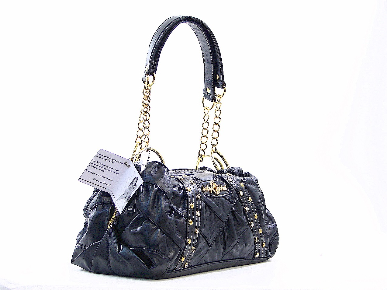 Baby Phat Black Princess Basic Iii Four Ring Satchel Handbag By