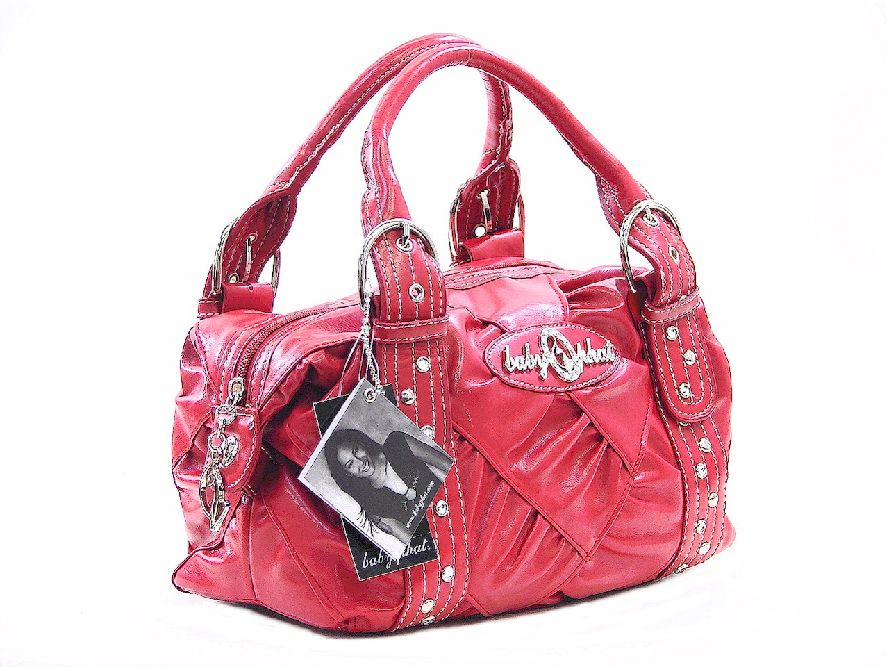 Baby Phat Candy Red Basic Princess Iii Satchel Handbag By