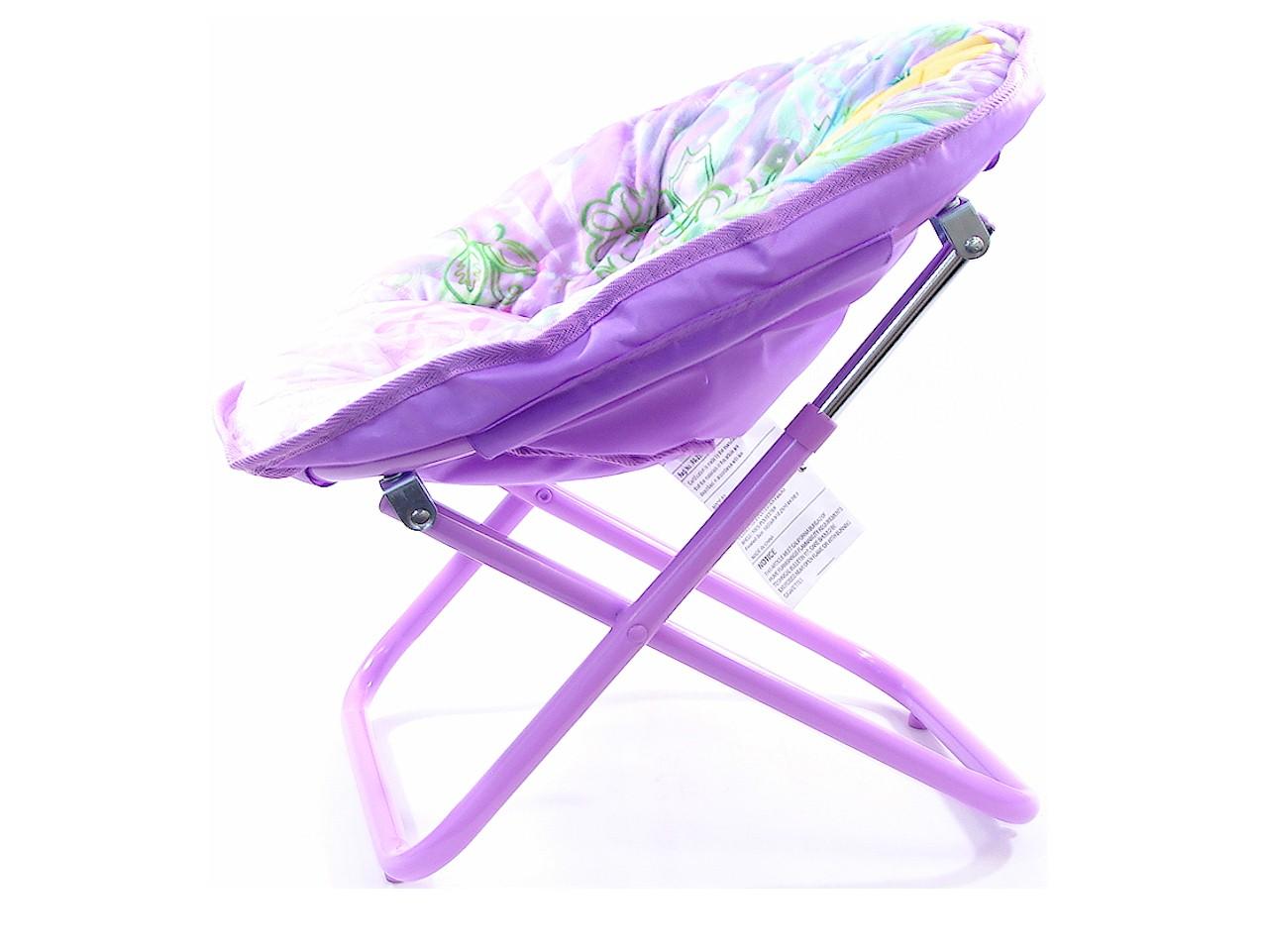 Purple saucer chair - Tinkerbell Purple Foldable Mini Saucer Chair By Tinkerbell