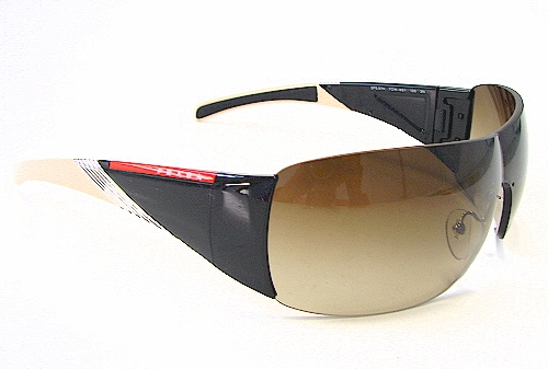 1aa38783b1 PRADA SPS07H SPS-07H Black  Cream 7OW-6S1 Sunglasses by Prada