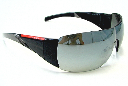 08f1ef248f PRADA SPS-07H SPS07H Black Grey 7BD-4S1 Sunglasses by Prada