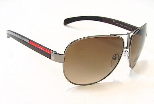 601b634a2b PRADA SPS-51 Sunglasses Brown   Silver 5AV-6S1 SPS51 Shades by Prada
