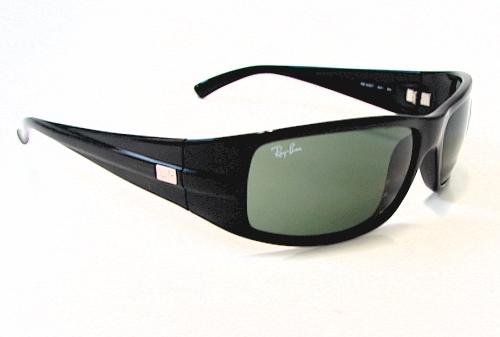 83f2d3a7e6 RayBan Ray-Ban RB4057 RB-4057 Sunglasses 601 Shiny Black Shades