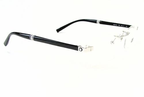 Rimless Glasses Montblanc : MONT BLANC Eyeglasses MB-9101 MB9101 F80 Silver Rimless ...