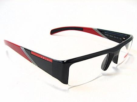 PRADA VPS 06A Eyeglasses VPS06A 7OV-101 Black/Red Optical Frames