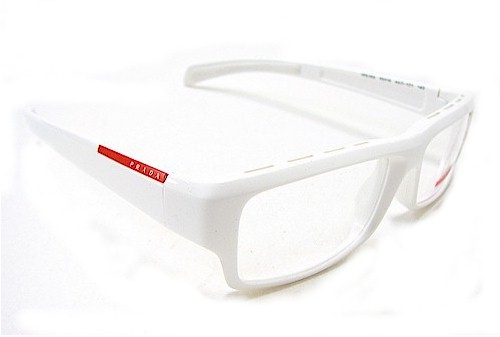prada vps 05a eyeglasses vps05a white 4ao 1o1 optical frames by prada - White Frame Eyeglasses