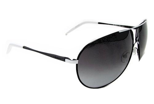 db3071096c04 Carrera Gipsy/S GipsyS HMF/V4 Black/White Aviator Sunglasses 64mm by Carrera