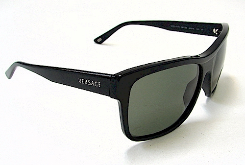 1345397d9a8 VERSACE 4179 Sunglasses Black GB1 58 Polarized Shades by Versace