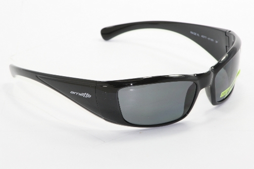 09b6999b89d8 ARNETTE Rage XL 4077 Sunglasses Glossy Black 41/81 Polarized Shades by  Arnette