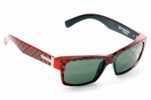 0e527e81905 VON ZIPPER Fulton Sunglasses VONZIPPER BRE Black Red Checkers Shades by Von  Zipper