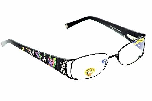 Ed Hardy EHO720 Eyeglasses EHO 720 Black Optical Frame