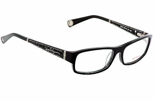 TRUE RELIGION Reno Eyeglasses Black Horn Optical Frames