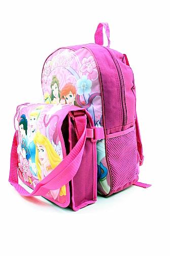 6540320d8e5 Disney Princess Backpack Pink Kids Girls Book Bag with Lunch Bag by Disney  Princess